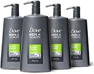 Dove Men+Care Body and Face Wash, Extra Fresh, 23.5 Ounce (Pack of 4)