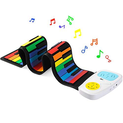 Lujex ロールアップピアノ 49鍵盤 ハンドロールピアノ 折り畳み式 日本語説明書付き 子供プレゼント 電子ロールピアノ