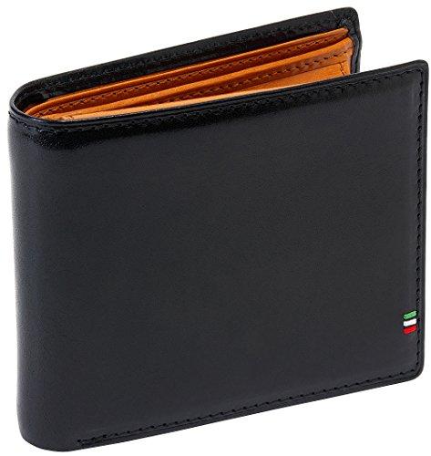 [ゴルベ] イタリアンレザー二つ折り財布 ([名入れ]ブラック) 1015