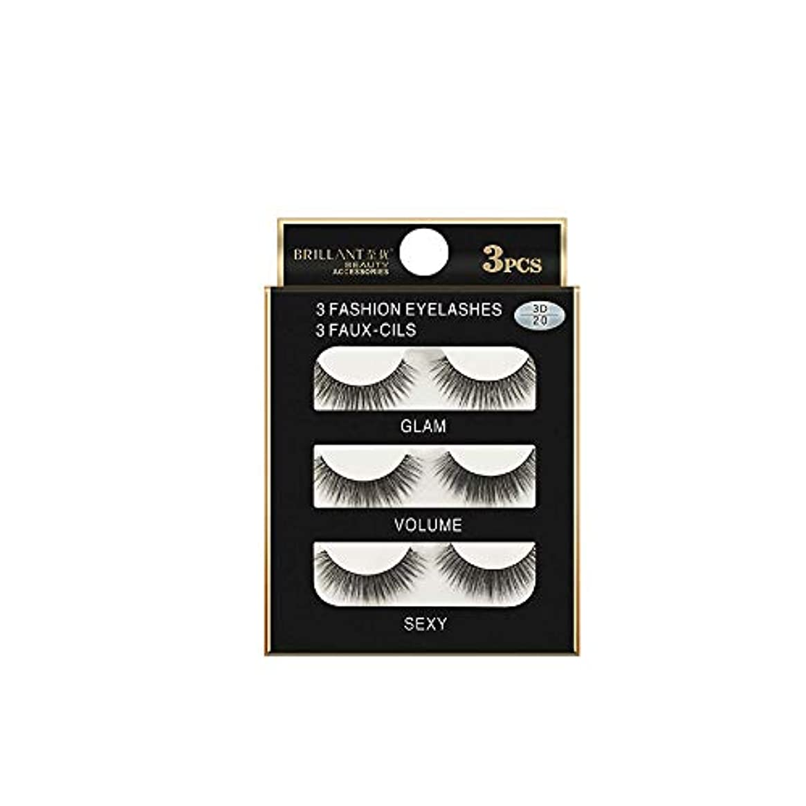 不快な割り込み炭水化物3組の3D長くつけまつげの構造の自然で偽の厚い黒い瞳のまつげ
