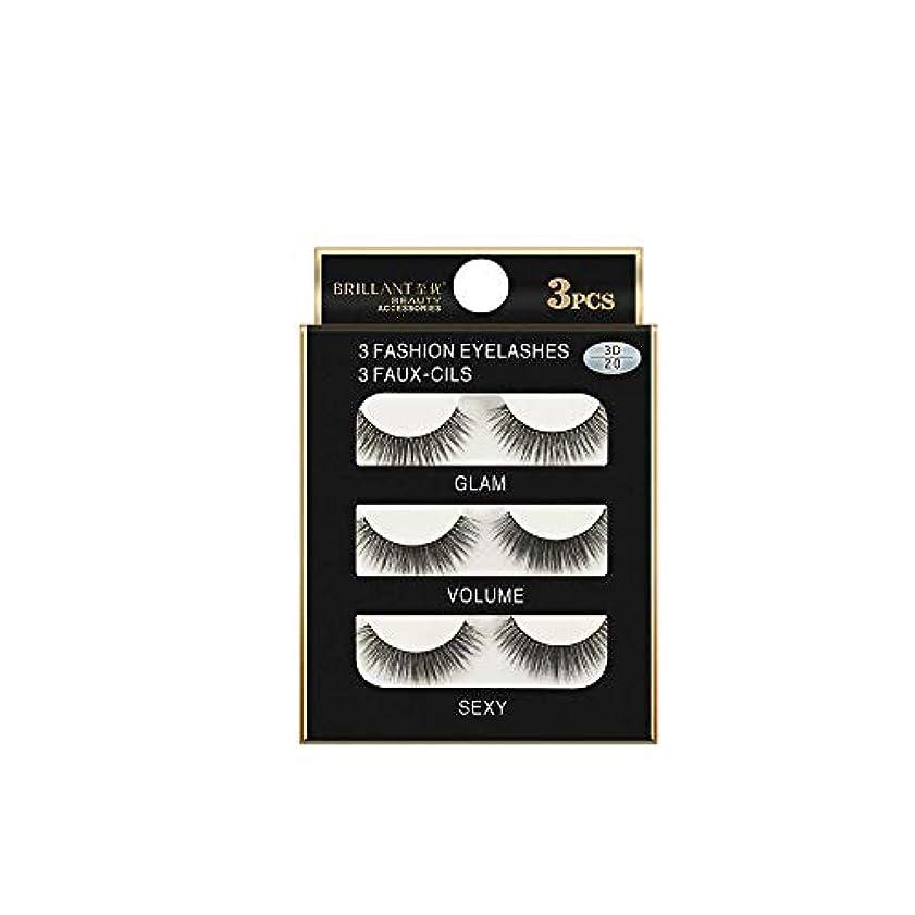 アシスト自分のために十分に3組の3D長くつけまつげの構造の自然で偽の厚い黒い瞳のまつげ