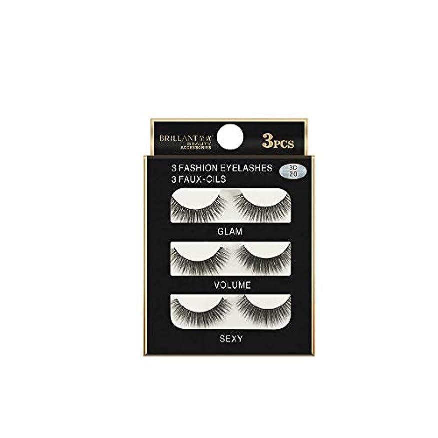 厚さ目を覚ます忍耐3組の3D長くつけまつげの構造の自然で偽の厚い黒い瞳のまつげ