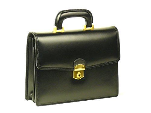 【日本製】本革EGクラッチミニ<スムース革>(黒) アタッシュケース用持ち手付属 B5ファイル収納