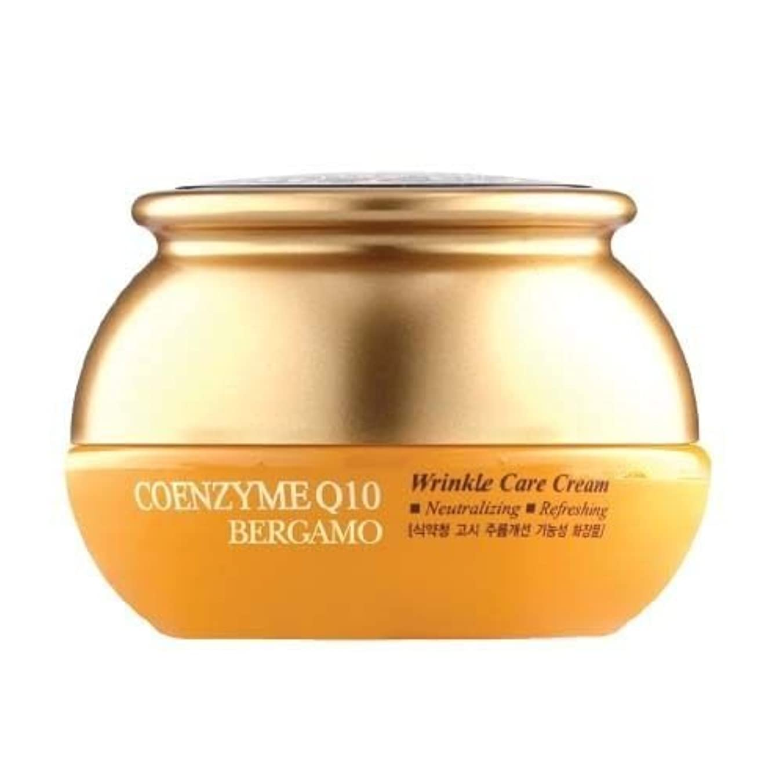 乱闘干渉する議論するベルガモ[韓国コスメBergamo]Coenzyme Q10 Wrinkle Care Cream コエンザイムQ10リンクルケアクリーム50ml しわ管理 [並行輸入品]
