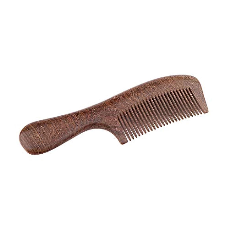 くすぐったいドロップ火山学P Prettyia 帯電防止櫛 ウッドコーム 頭皮マッサージ くし 使いやすい