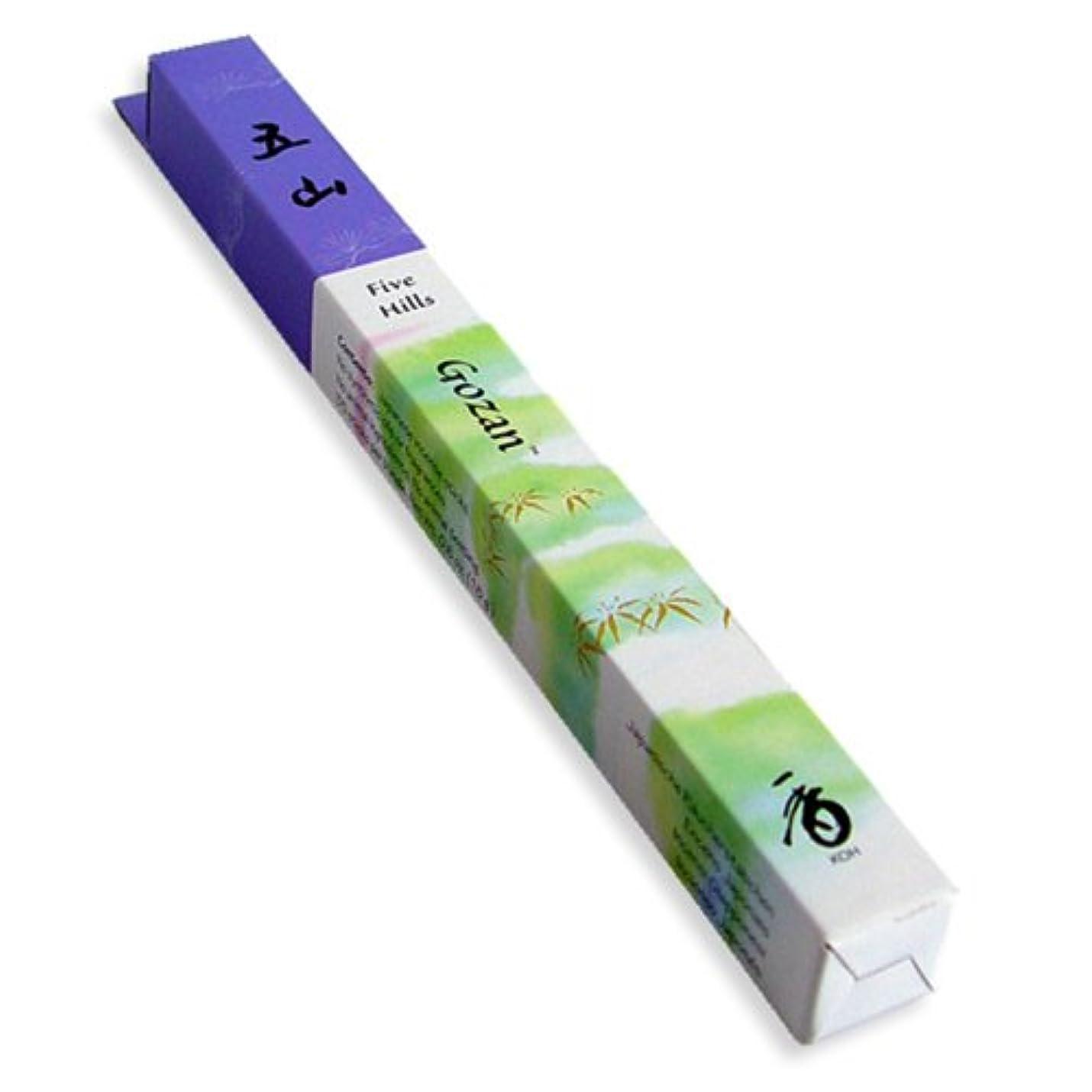 飾る遺伝的エンドテーブルShoyeidoの5つのHills Incense、35 Sticks – Gozan