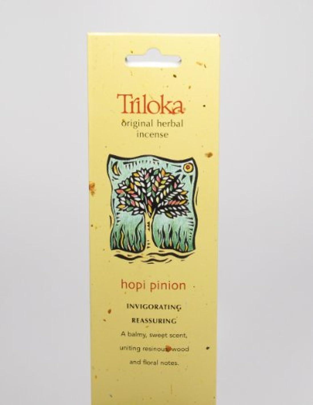 パッケージ証書クロールHopi Pinon – Triloka元Herbal Incense Sticks