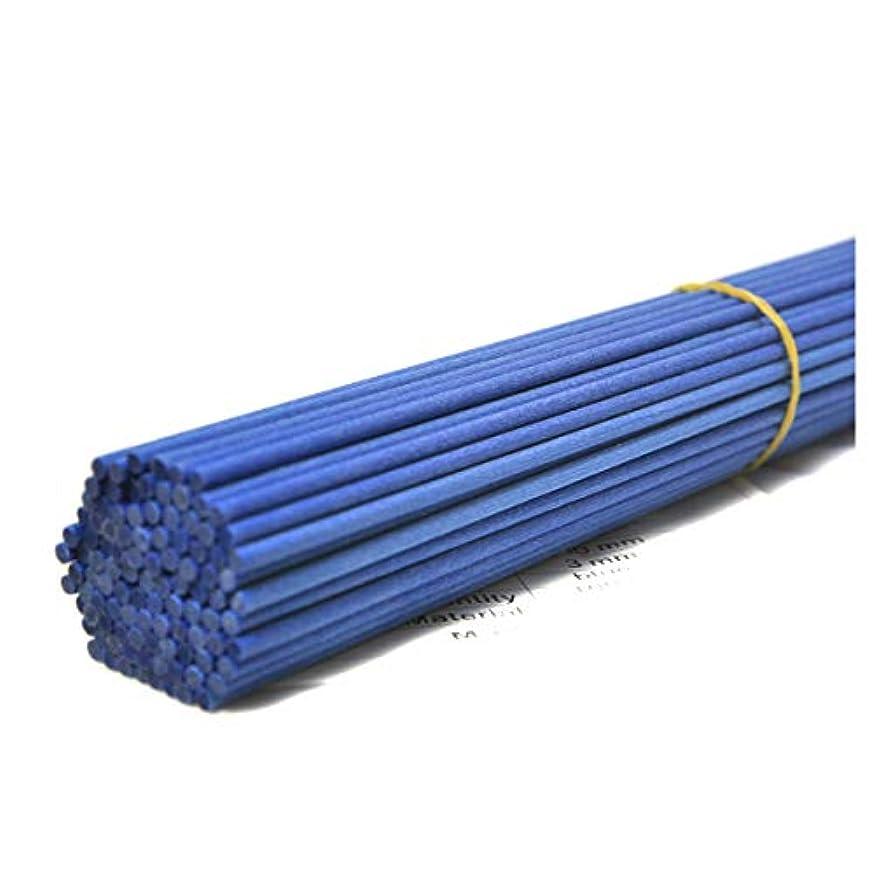 動的のホスト有効100本入アロマファイバーディフューザー交換用スティック (25cm*3mm, 青)
