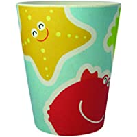 EcoBamboo Ware Kid's Bamboo Under The Sea Cups/Tumblers Two Piece Set, Blue/Yellow/Red by EcoBamboo Ware