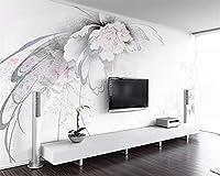 壁紙エレガント抽象フローラルヨーロッパテレビ背景壁家の装飾リビングルームベッドルーム壁画3d壁紙-254x365cm