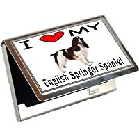 I Love My English Springerビジネスカードホルダー