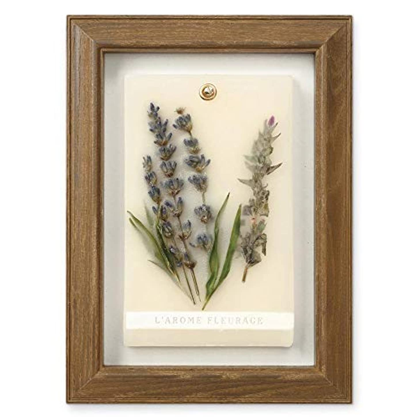 常習的異形狂うFLEURAGE(フルラージュ) アロマワックスサシェ ラベンダーの香り Lavender×AntiqueBrown KH-61119