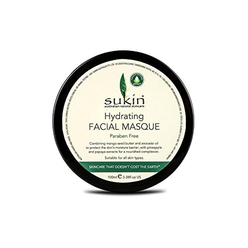 水和顔の仮面劇の100ミリリットルを x4 - Sukin Hydrating Facial Masque 100ml (Pack of 4) [並行輸入品]