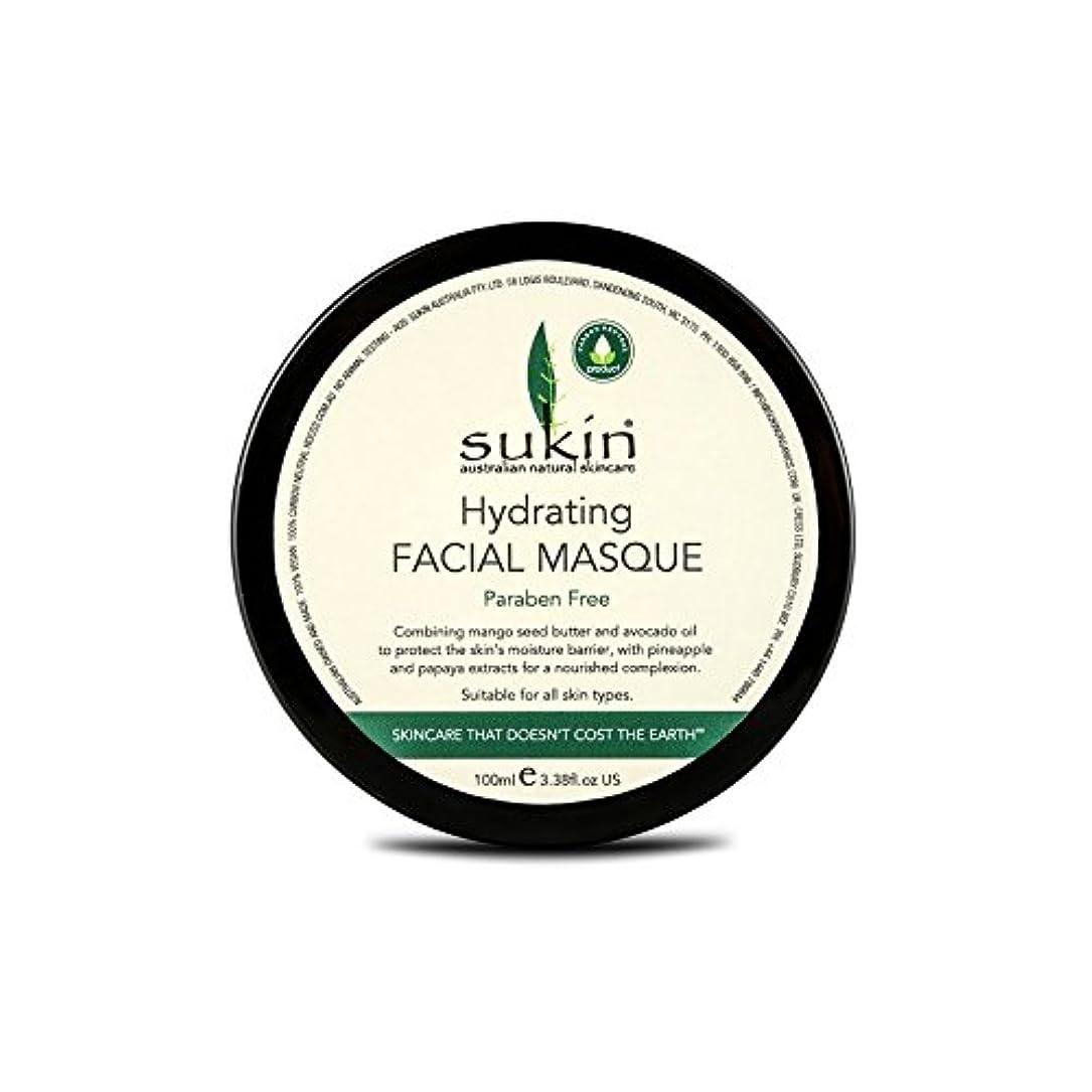 Sukin Hydrating Facial Masque 100ml (Pack of 6) - 水和顔の仮面劇の100ミリリットルを x6 [並行輸入品]
