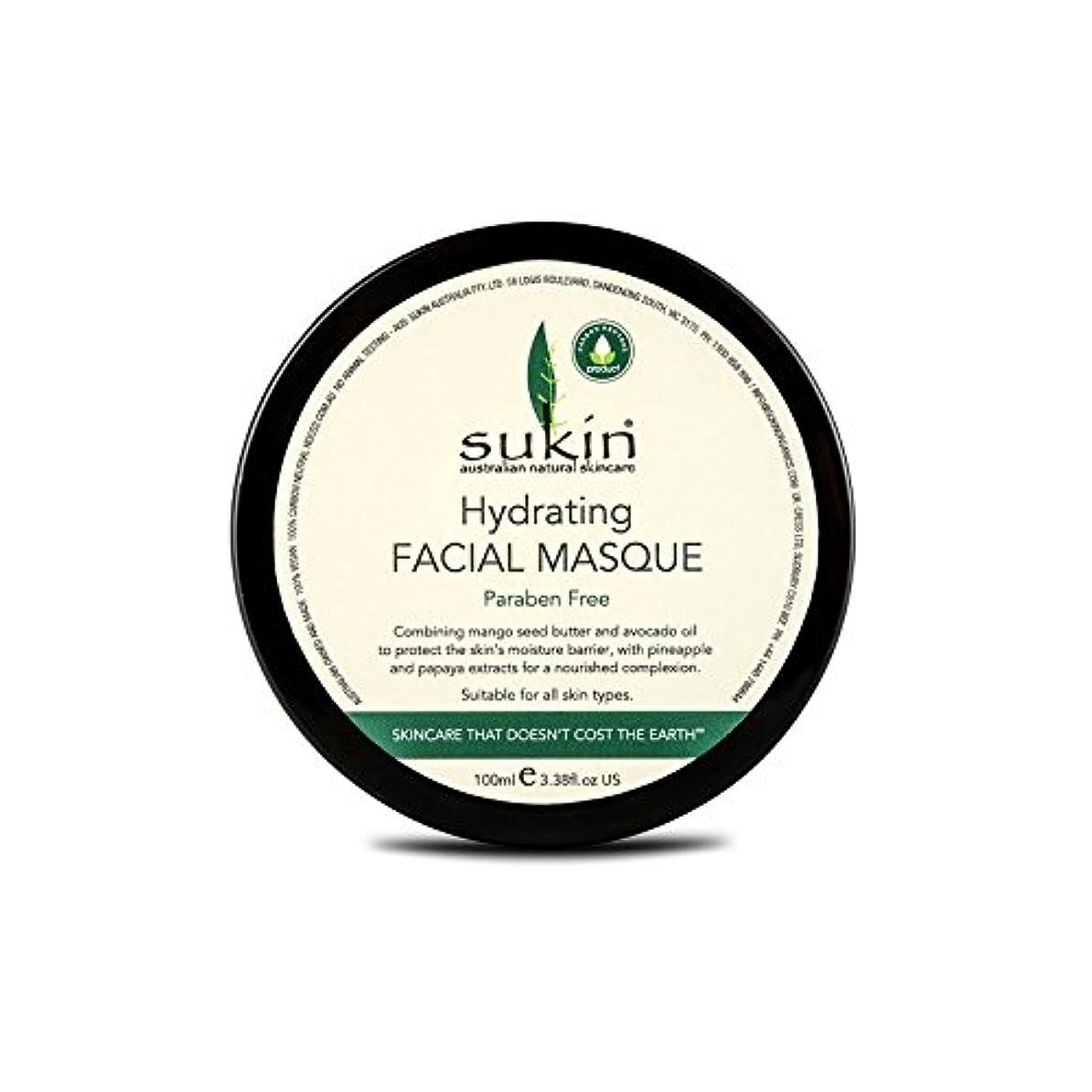 湖挑む石化するSukin Hydrating Facial Masque 100ml (Pack of 6) - 水和顔の仮面劇の100ミリリットルを x6 [並行輸入品]