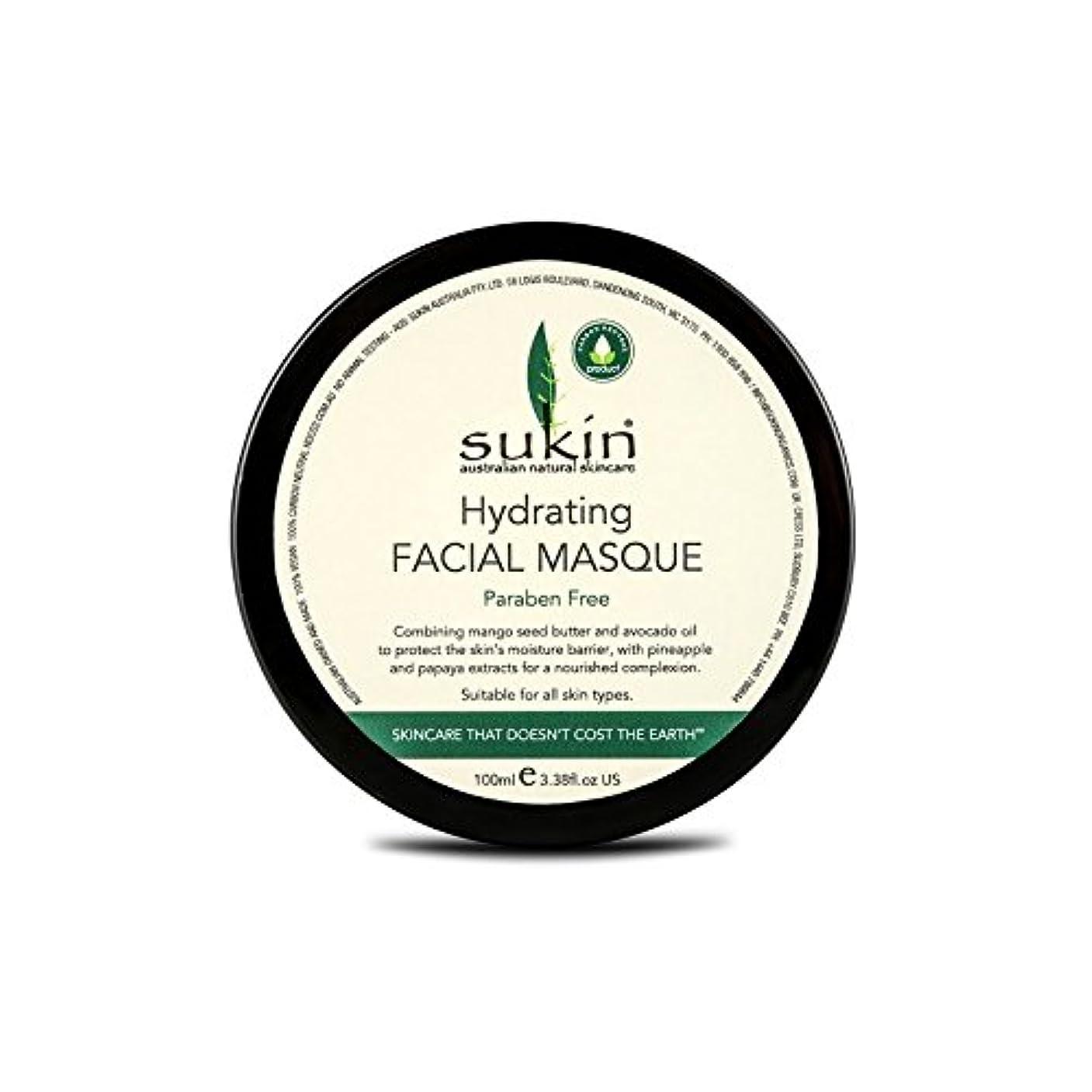 心のこもった目を覚ますミトンSukin Hydrating Facial Masque 100ml (Pack of 6) - 水和顔の仮面劇の100ミリリットルを x6 [並行輸入品]