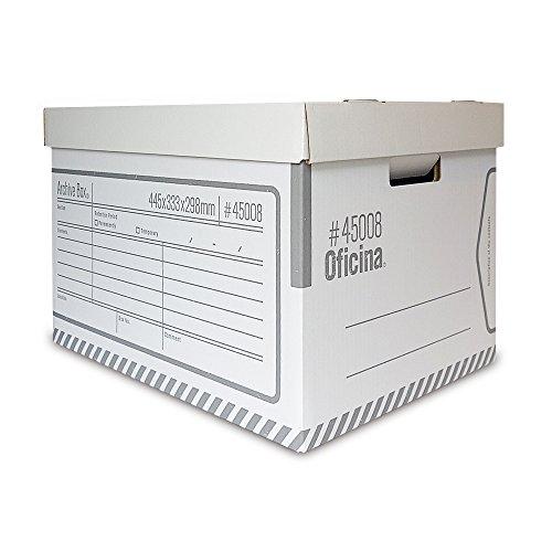 Oficina アーカイブボックス 4枚セット 頑丈なダンボール製収納箱