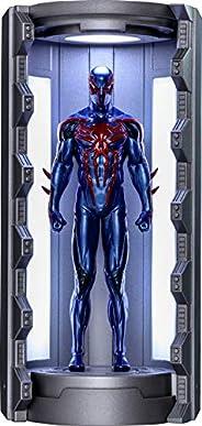 【ビデオゲーム・マスターピース COMPACT】『Marvel's Spider-Man』ミニチュア・フィギュア シリーズ1 スパイダーマン(スパイダーマン2099ブラック・スーツ/スパイダースーツ格納庫付き)
