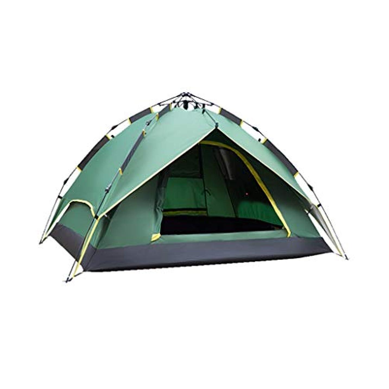 行覗くシェアIDWOI キャンプのテント 現れる 防水 3-4人 ドームテント アウトドア 自動 インスタント 軽量 家族のテント、2色 (Color : Green)