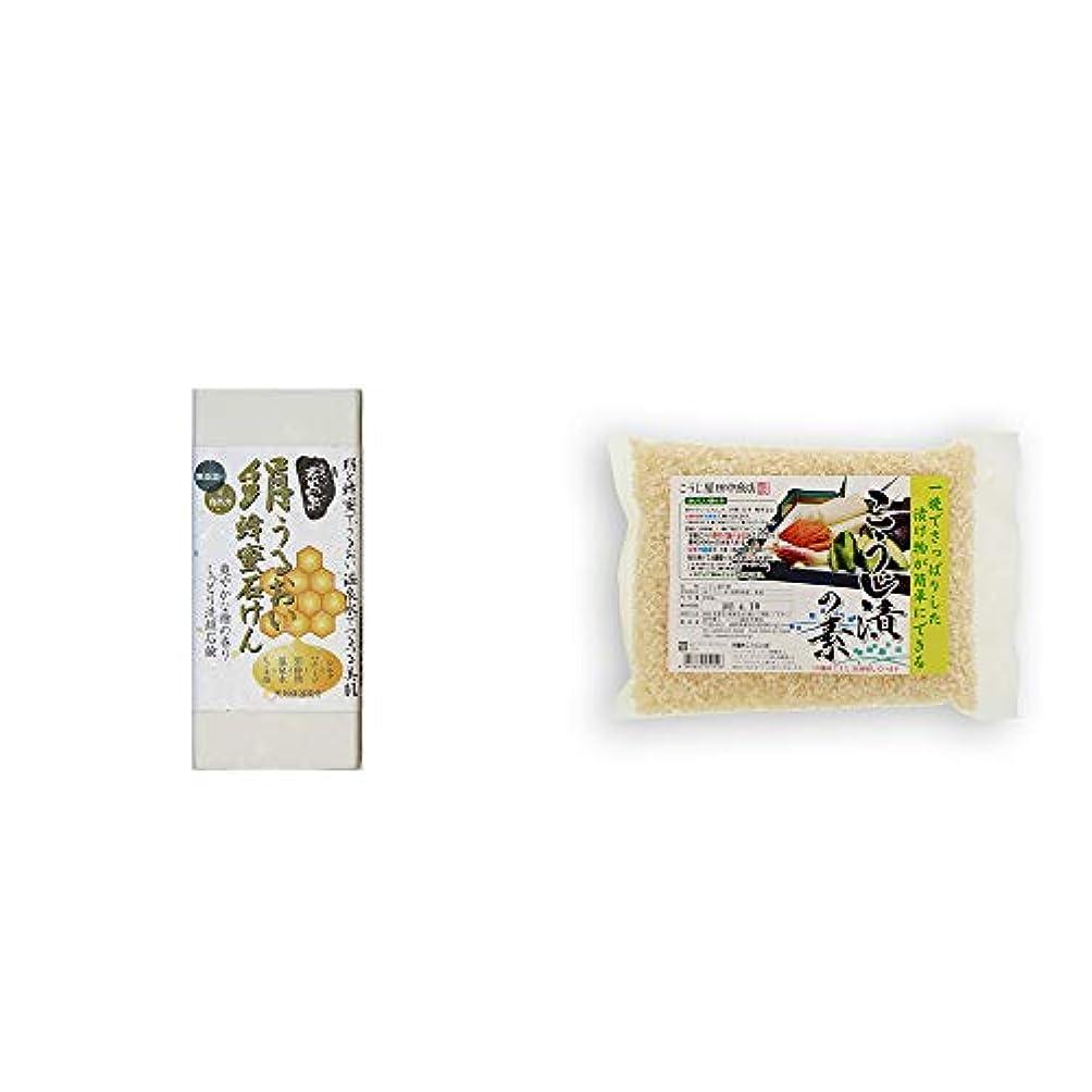 小切手ところでオーバードロー[2点セット] ひのき炭黒泉 絹うるおい蜂蜜石けん(75g×2)?こうじ屋田中商店 こうじ漬けの素(600g)