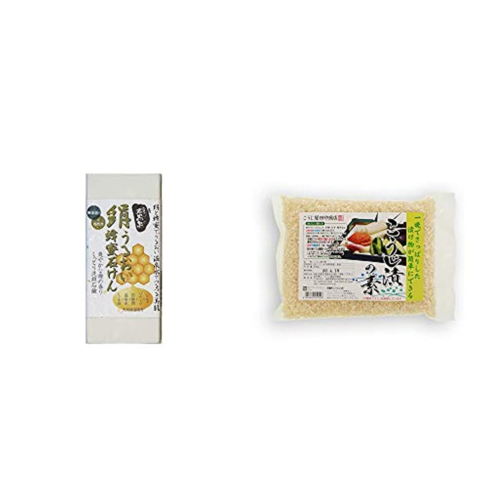 十億フォージアサー[2点セット] ひのき炭黒泉 絹うるおい蜂蜜石けん(75g×2)?こうじ屋田中商店 こうじ漬けの素(600g)