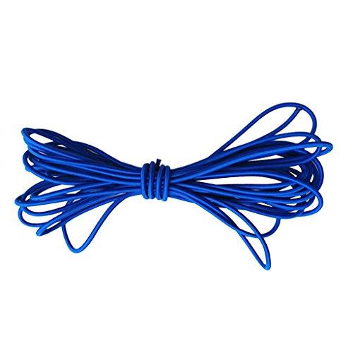 Sharplace 5mm 青 弾性ゴム バンジー  ロープ ショック コード タイ ボート UV 安定 全9サイズ - 青, 5m
