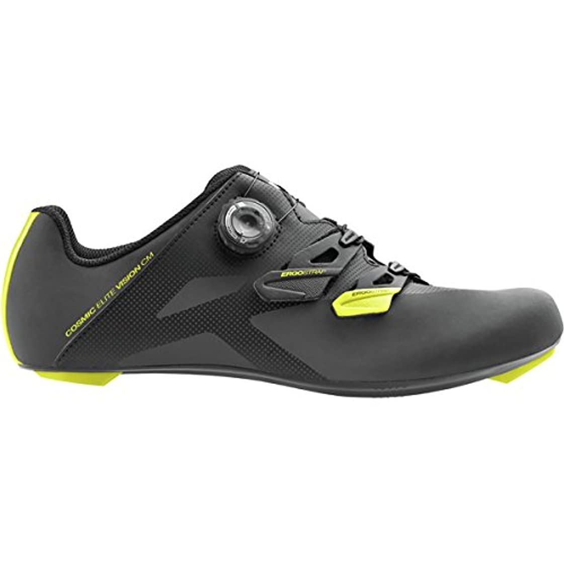 おじさん達成する器官Mavic Cosmic EliteビジョンCM Shoe – Men 's Black/Yellow Mavic/ブラック、US 12.0 / UK 11.5