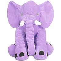 YideaHome ベビー枕 寝抱き枕 象 プラッシュ玩具 かわいい象ちゃん 柔らかい ぬいぐるみ お友達プレゼント