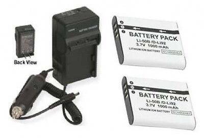 li-50ba li-50bb 2電池+充電器for Olympus SZ - 10、Olympus SZ - 11、Olympus SZ - 20、Olympus SZ - 30mr XZ - 1