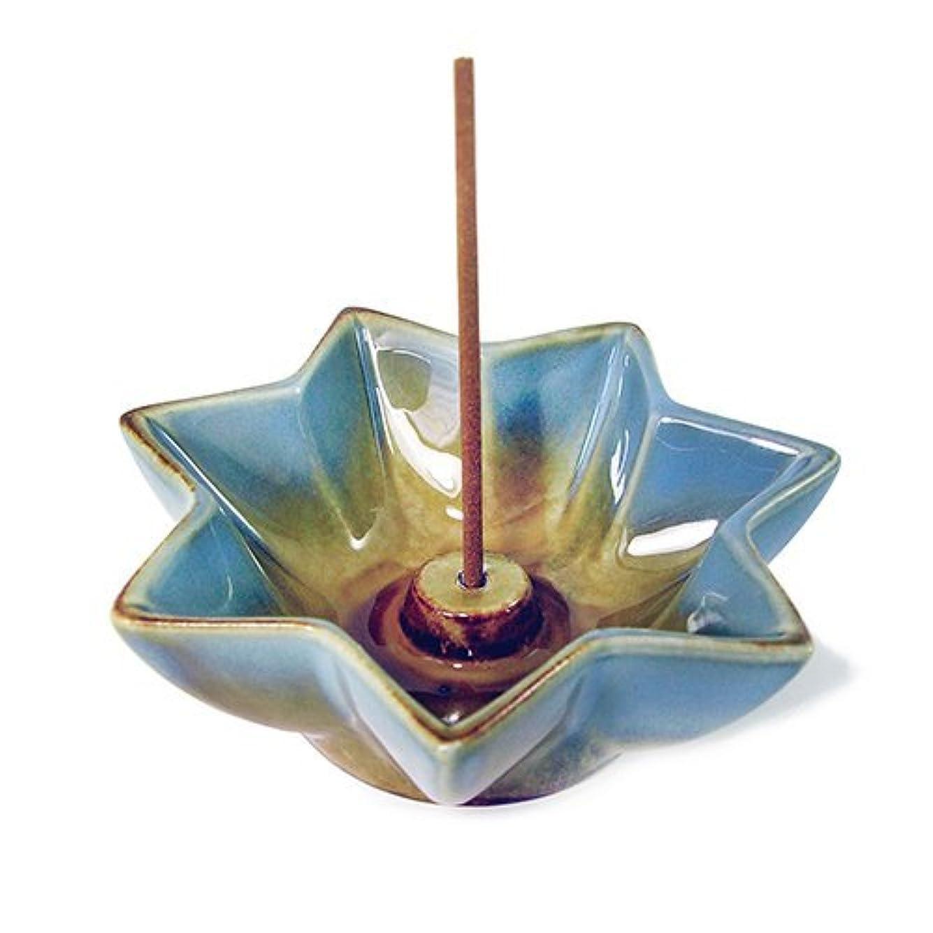 証明する穏やかな嫌がるShoyeido 's LotusセラミックIncense Holder