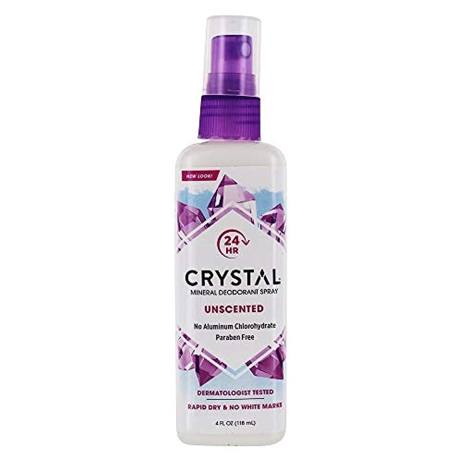 バッグ言うまでもなく写真を描くクリスタル(Crystal) ボディデオドラント スプレー(無香料) 118ml [海外直送][並行輸入品]