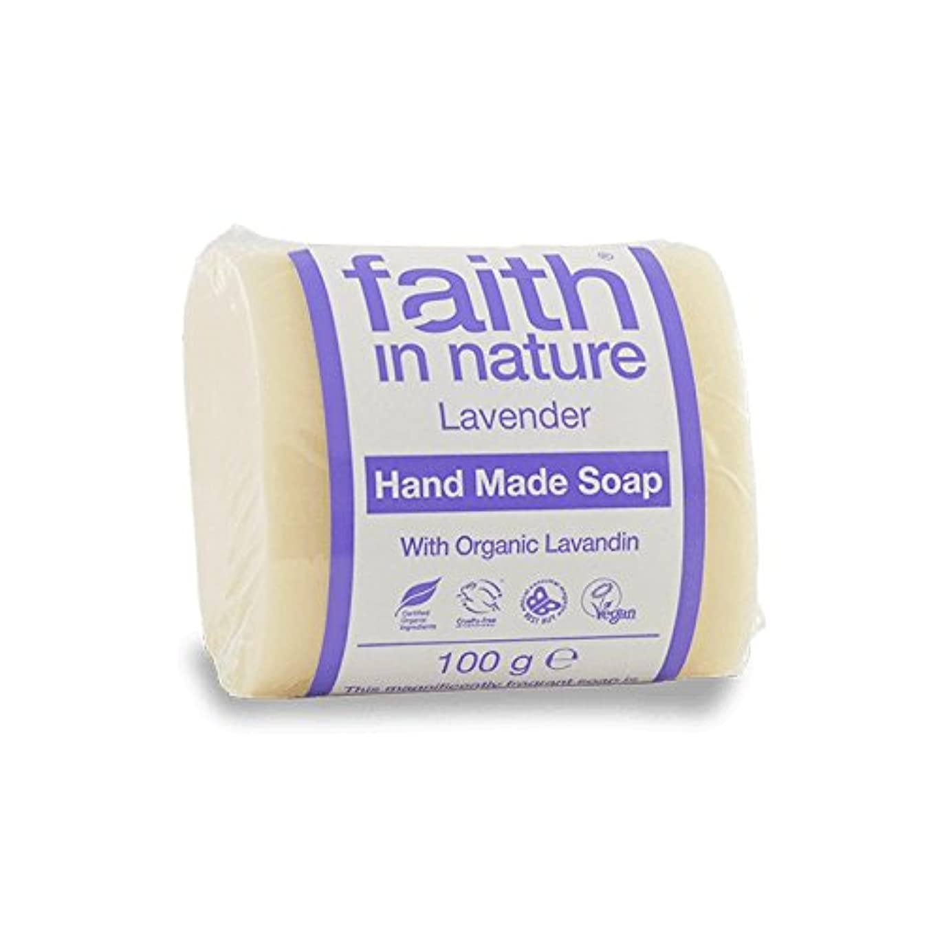 包帯ファランクス概要Faith in Nature Lavender Soap 100g (Pack of 6) - 自然ラベンダー石鹸100グラムの信仰 (x6) [並行輸入品]