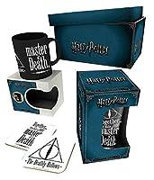 Harry Potter マグカップ Gift Box Deathly Hallows Logo Glass コースター 新しい 公式
