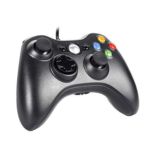 XBOX360 コントローラー Sefitopher PC 有線 ゲームパッド ケーブルXbox&Slim 360 Windows PC Win 7 8 10ゲーム適用 人体工学 二重振動