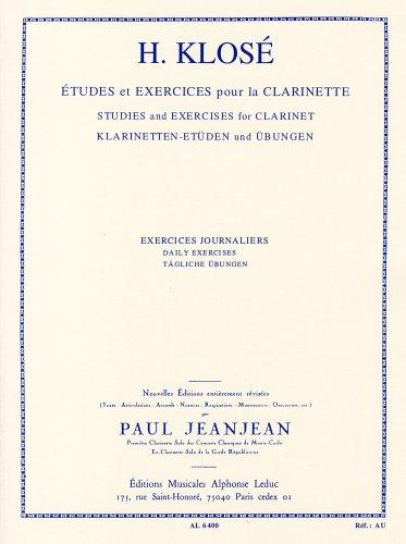 クローゼ: クラリネットのための日課練習/ルデュック社教本