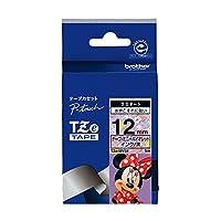 ブラザー ピータッチテープ ディズニーテープ ミニーバイオレット/黒字 12mm TZE-MV31 【まとめ買い3個セット】