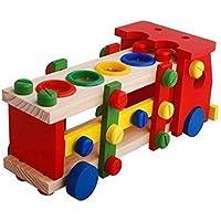 High Grade Detachable Assembling Wooden Toys for Kids, Children's Educational Disassembly Truck Playset [並行輸入品]
