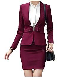 cheelot 女子オープンオフィススモークウエスト薄ブレザーとスカートスーツセット