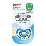 ピジョン おしゃぶり Fun Friends 6-18ヵ月 / Lサイズ しろくま柄 肌にやさしい シリコーン