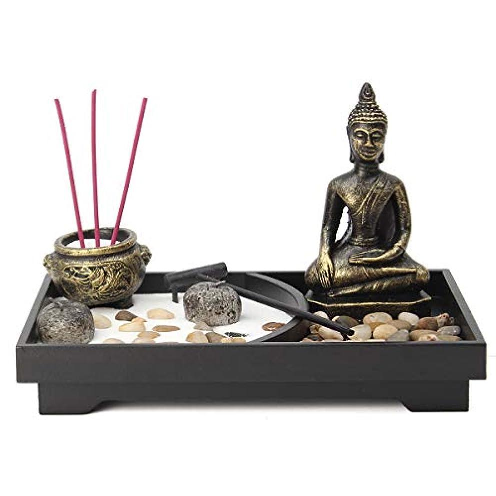 大学院湿ったクロールjeteven Buddha Statue Incense Holder Mini瞑想Zen Garden withワックス、お香バーナーホルダースティックホームDecor & Handicraft、8.82