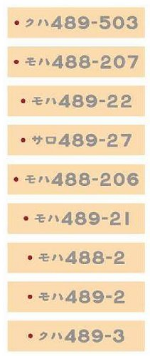 車番コレクション489系さよなら能登