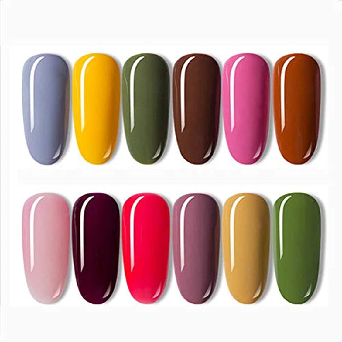 ジョージハンブリージョットディボンドンリアルUrft 女性用の新しいマニキュアセット安全な乾燥高速コレクションLEDランプ硬化クイックドライ長持ちシャイン高光沢ミラー効果12トレンディで光沢のある色