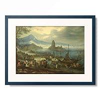 ヤン・ブリューゲル(父) Jan Brueghel de Oude 「The Sermon on the Sea of Galilee, 1600–1699.」 額装アート作品