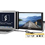 """SideTrak Portable Monitor for Laptop 12.5"""" FHD 1080P IPS Attachable Laptop Screen   Efficient USB Power   Compatible with Mac, PC, Linux, Chromebook 13""""-17"""" Laptops (Patent Pending)   Improved Version"""