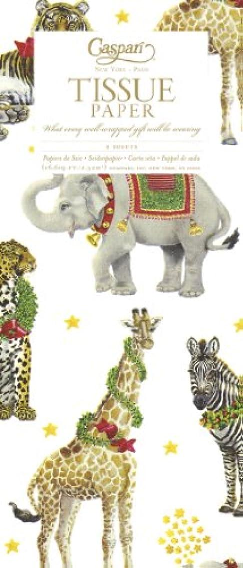 ジャグリング好きであるかすかなEntertaining with Caspari Tissue Paper, Wild Christmas Ivory, 4-Sheets by Caspari