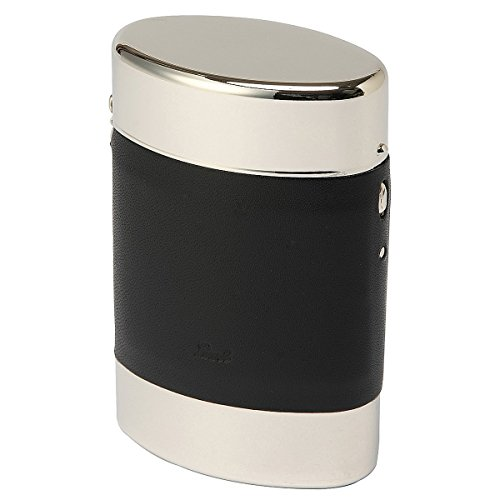 坪田パール ポップアップケース キングサイズ(85mm) 20本収納 革巻きブラック タバコケース 1-98451-10