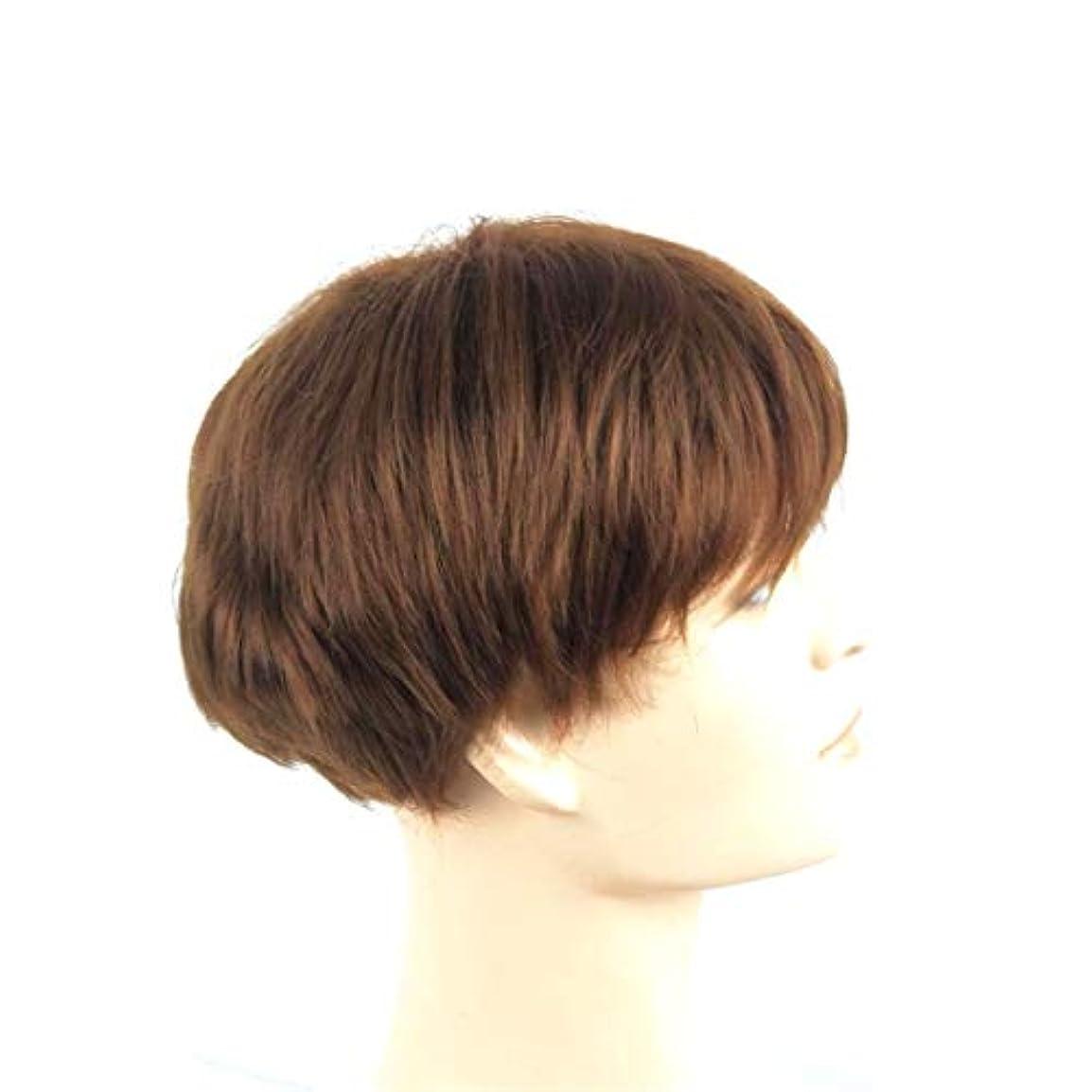 線ペットコンセンサスKerwinner 女性のための短いかつらストレート人工毛化学繊維高温ワイヤーウィッグ