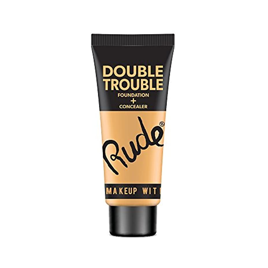全体長さに勝る(3 Pack) RUDE Double Trouble Foundation + Concealer - Linen (並行輸入品)