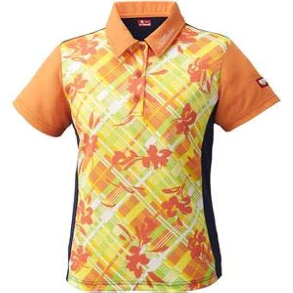ブース高潔な致命的ニッタク(Nittaku)卓球アパレル FURACHECKS SHIRT(フラチェックスシャツ)ゲームシャツ(レディース)NW2181 オレンジ L