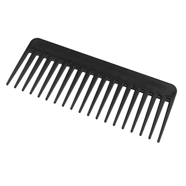 見えるステンレスレザー帯電防止くし プラスチック製 ヘアブラシ 丈夫 3色選べ - ブラック